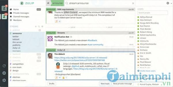 Zulip Desktop Client