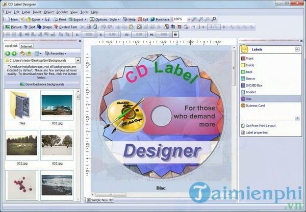 CD Label Designer