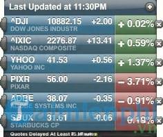Yahoo! Stock Ticker
