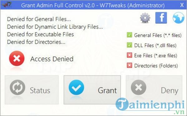 Grant Admin Full Control
