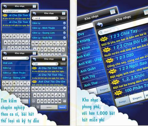 CloudKaraoke Soncamedia cho iPhone