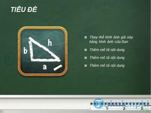 Mẫu slide cho giáo án điện tử