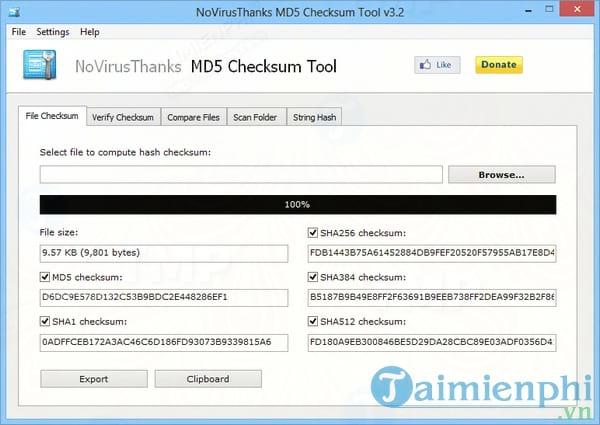 NoVirusThanks MD5 Checksum Tool Portable