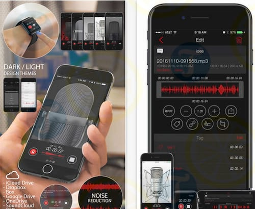 Awesome Voice Recorder cho iPhone