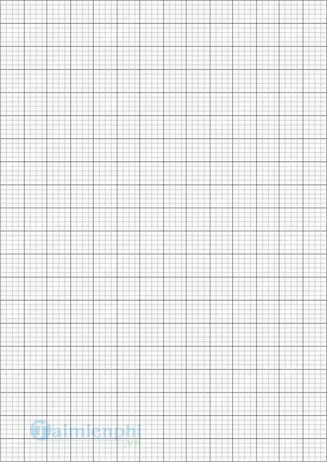 Mẫu giấy 5 ô ly