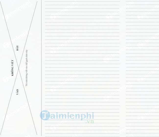 Mẫu giấy làm bài thu hoạch chính trị hè 2017-2018