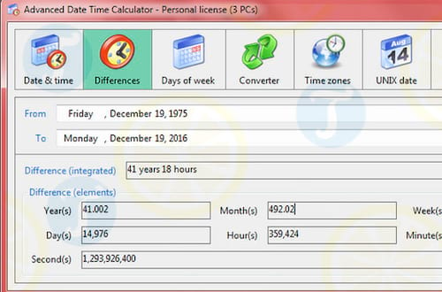Advanced Date Time Calculator