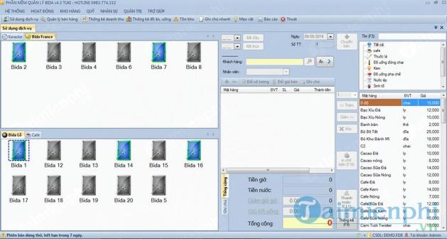 Phần mềm quản lý Bida TUKI BIDA