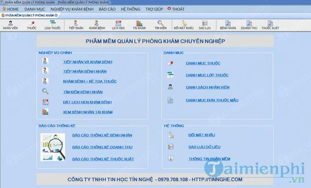 Phần mềm quản lý phòng khám Tinnghe