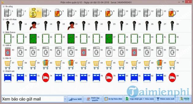 Phần mềm quản lý bida V3