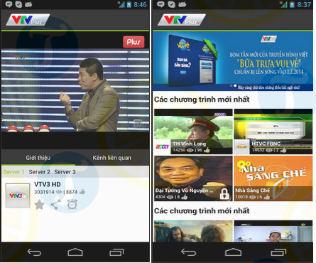 download vtv plus cho android