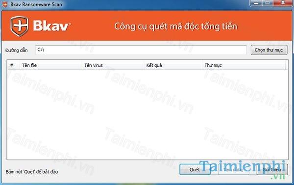Bkav Ransomware Scan