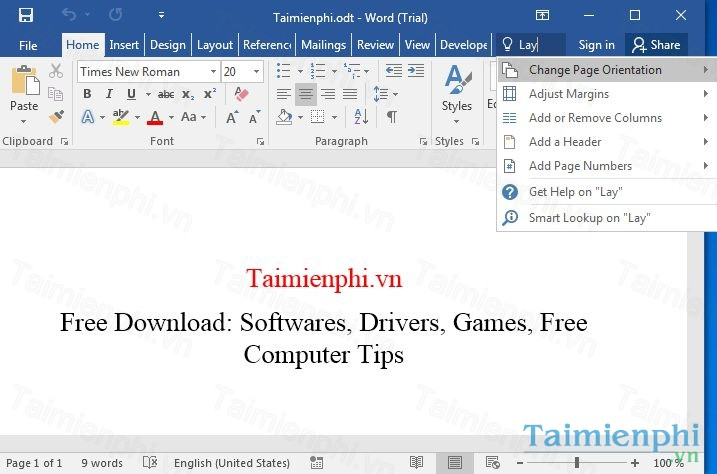 download office 2016 tiếng Việt