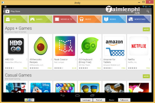 Download Andy - Giả lập hệ điều hành Android, phần mềm giả lập Android