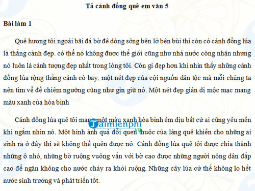 ta canh dong que em lop 5