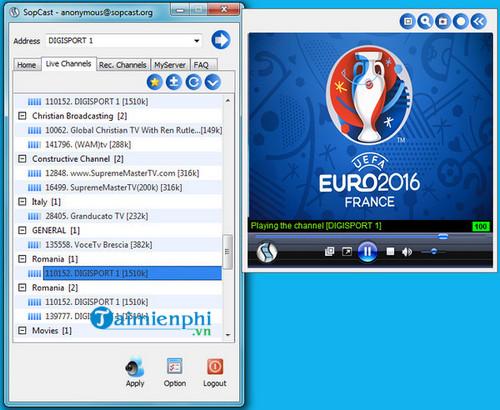 sopcast gratuit 01net