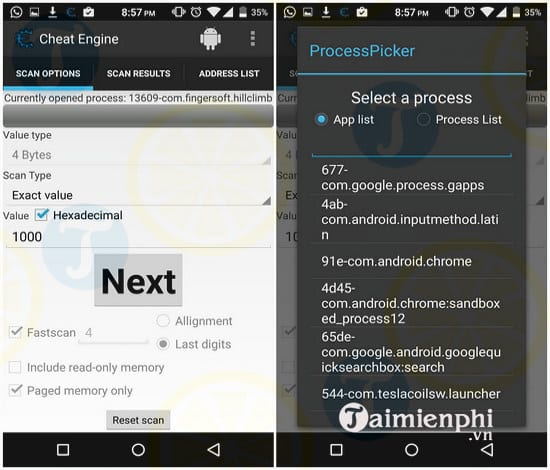 cheat engine cho android
