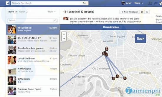 Download Marauders Map 2018 - Theo dõi vị trí bạn bè Facebook qua bản