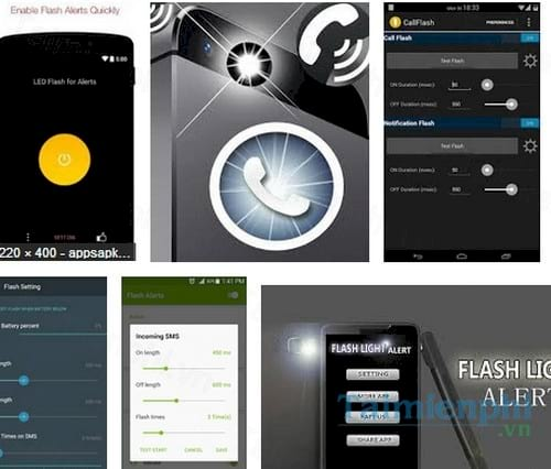flash alerts on call and sms for android