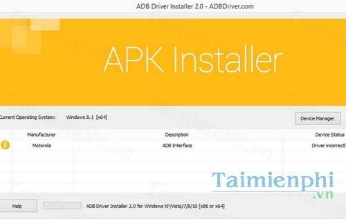 Download ADB Installer 1 0 - Cài đặt các ứng dụng Android APK -taimien