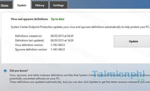 windows defender definition updates