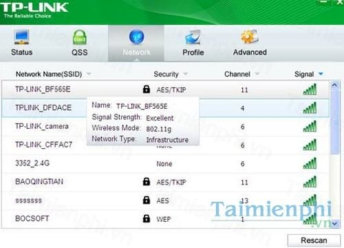tp link wireless configuration utility