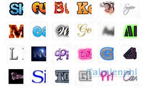 cool text tu tao logo va nut bam cho web