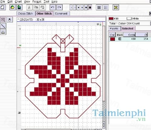 kg chart le for cross stitch