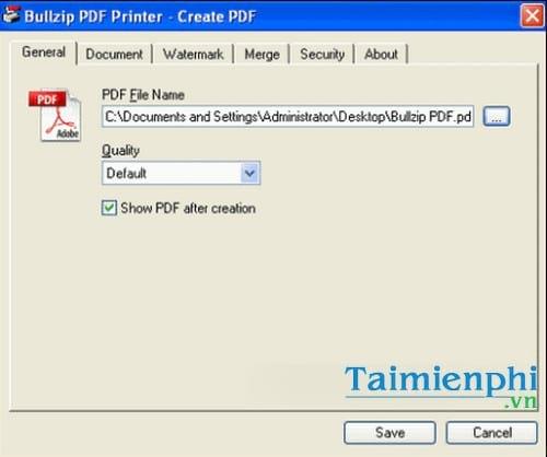 bullzip pdf printer standard