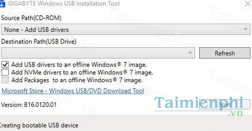 Download Windows USB Installation Tool B16 0120 1 - Tạo USB khởi động