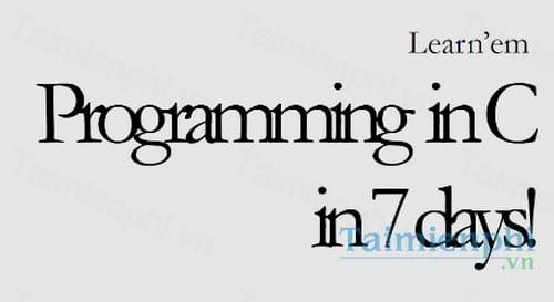programming in c in 7 days
