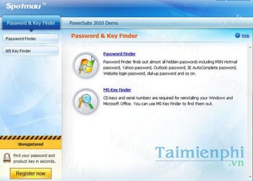 spotmau password and key finder 2010