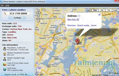 phone number location lookup 2011