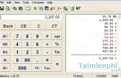 moffsoft calculator
