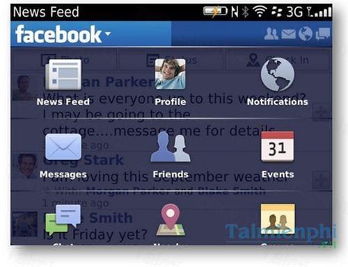 facebook cho blackberry