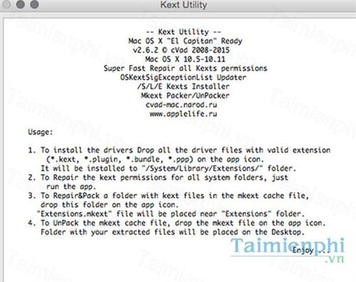 kext utility for mac
