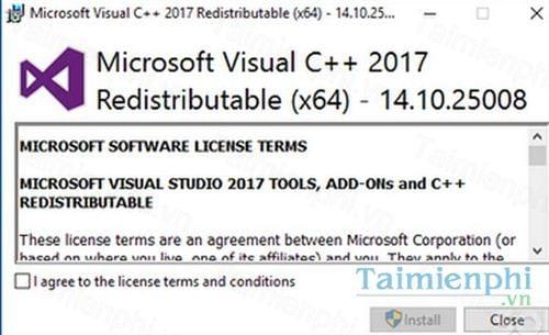 microsoft visual c redistributable package 2017