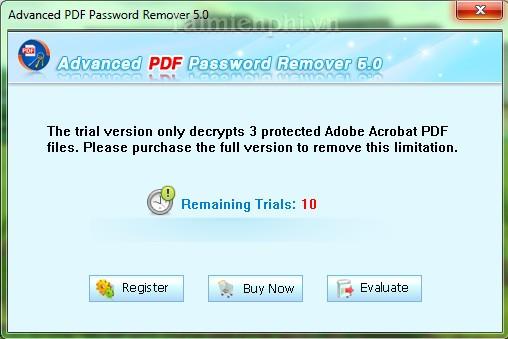 Advanced PDF Password Remover