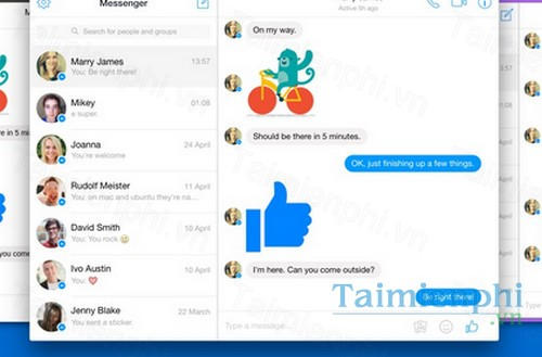 Facebook Desktop Messenger