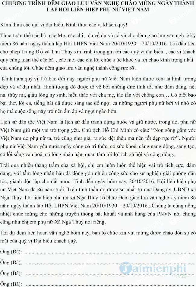 loi dan chuong trinh van nghe ngay 20 10