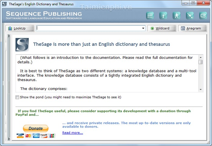 TheSage English Dictionary and Thesaurus
