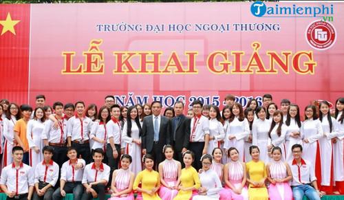 loi dan chuong trinh khai giang nam hoc moi dai hoc